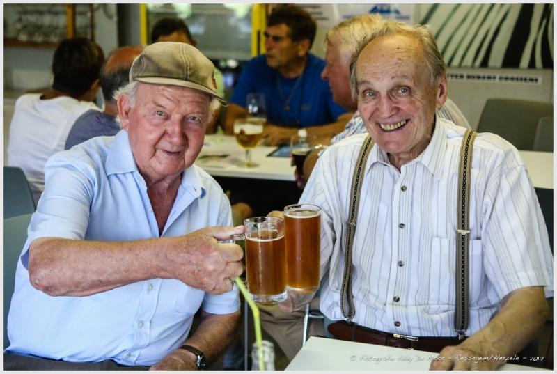 Ze zaten samen op school en vonden elkaar terug na meer dan 60 jaar: Stijn Huylebrouck en Hubert Goossens.